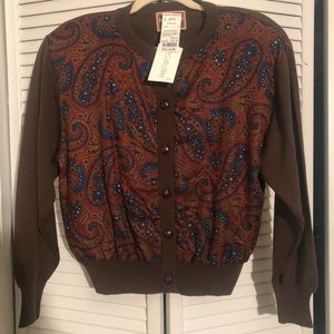 AMAZING JH Collectibles Vintage Paisley Cardigan